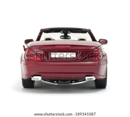 ALMATY, KAZAKHSTAN - April 26, 2014 - Collectible toy Mercedes-Benz SL 550 cabriolet isolated on white background - stock photo
