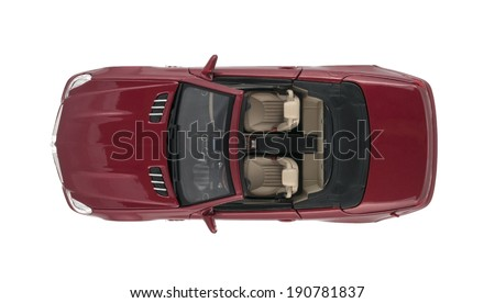 ALMATY, KAZAKHSTAN - May 4, 2014 - Collectible toy Mercedes-Benz SL 550 cabriolet isolated on white background - stock photo
