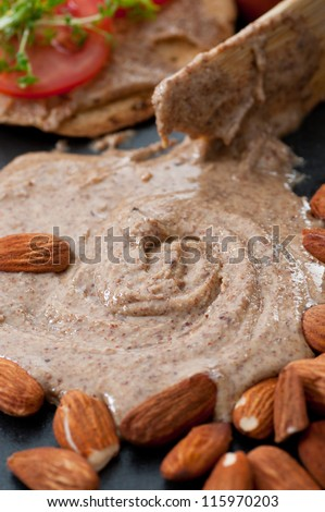 Almond Butter - stock photo
