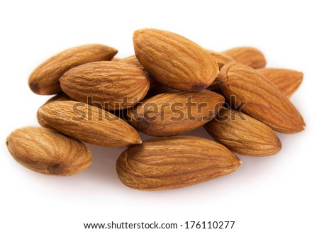 almond isolated on white background - stock photo
