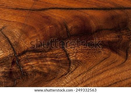 almond wood texture dark background - stock photo