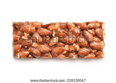 almonds and honey bar - stock photo