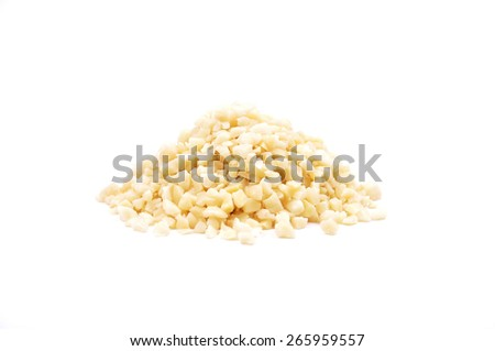 Almonds on white - stock photo