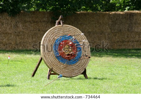 Almost all on target - stock photo