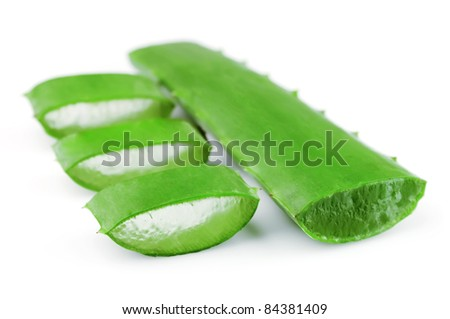 Aloe herbal medicine close up - stock photo