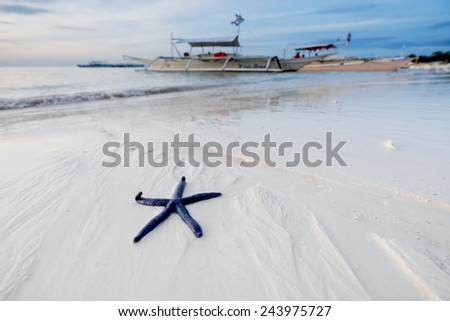 Alona beach at Panglao Island, Philippines. - stock photo
