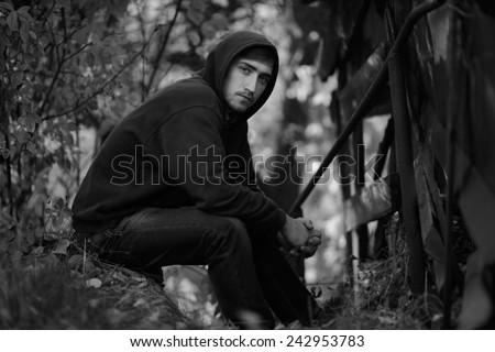 alone guy - stock photo
