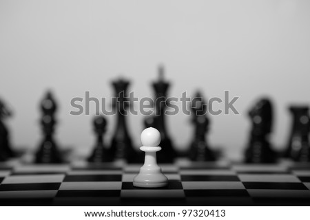 alone pawn - stock photo