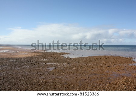 Along the coast of Stansbury, South Australia - stock photo