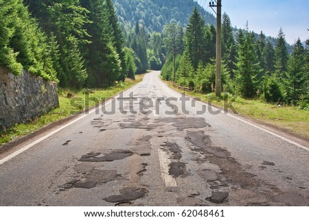 along the road in the afternoon - stock photo