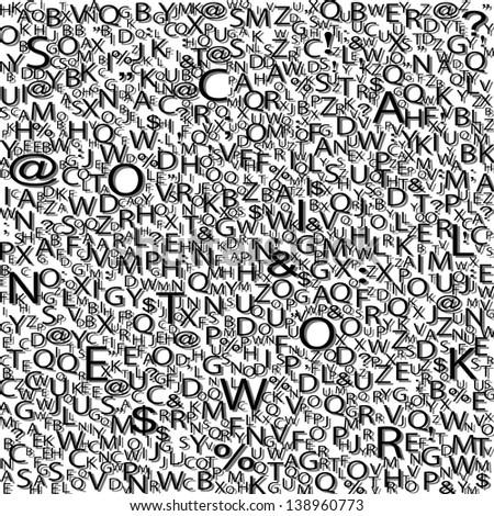 Alphabet background - stock photo