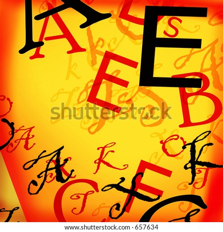 Alphabet background - stock photo