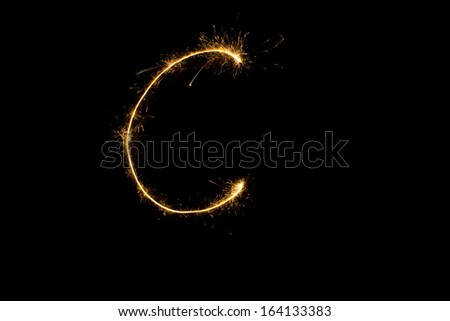 Alphabet big  letter  - stock photo