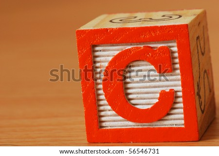 Alphabet block with the letter C - stock photo