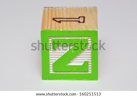 Alphabet block Z isolated on a white background - stock photo