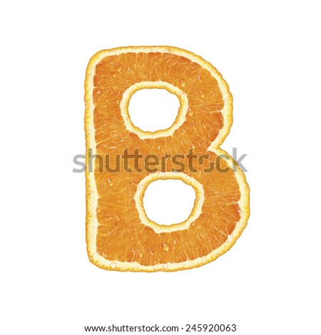 Alphabet isolated on white background (Letter B)  - stock photo