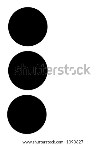 alphabet letter l in braille - stock photo