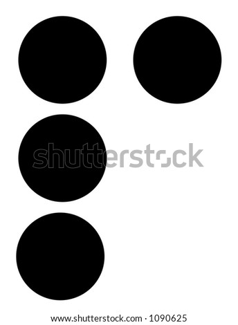 alphabet letter p in braille - stock photo