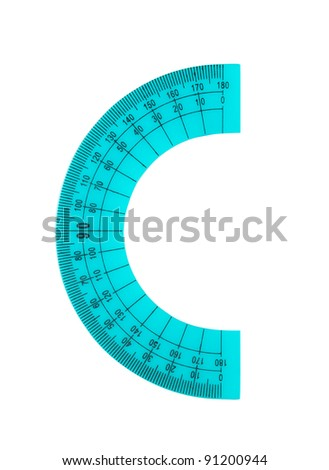 Alphabet made of rulers and protractors - stock photo