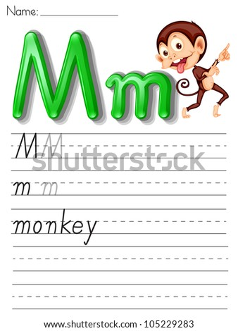 Alphabet worksheet on white paper - EPS VECTOR format also available in my portfolio. - stock photo