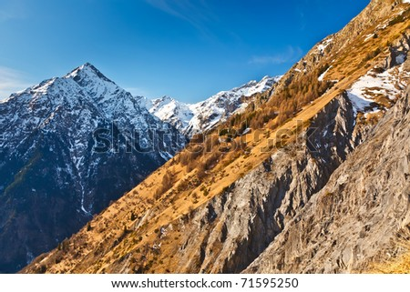 Alpin landscape - stock photo