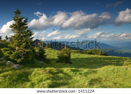 Alpine  landscape - stock photo