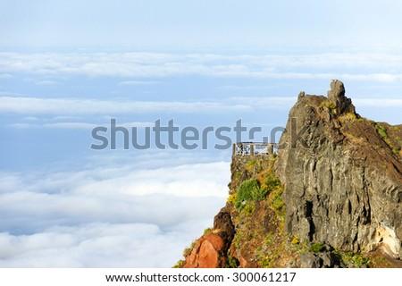 Alpine landscape in Madeira Island, Portugal, Europe - stock photo