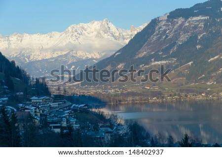 Alpine ski resort Zell am See, Austria - stock photo