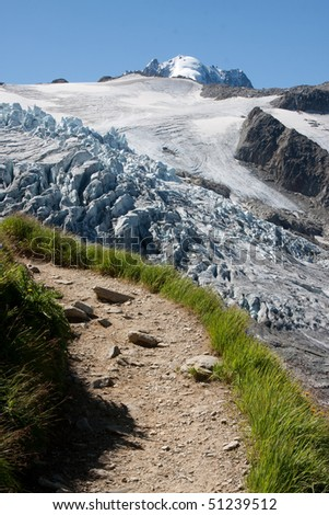 Alpine trail - stock photo