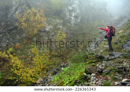 Alpine trekking in Mehedinti Mountains, Romania, Europe - stock photo