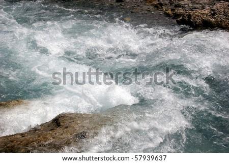 Alpine wild creek in the german Alps near Berchtesgaden - stock photo