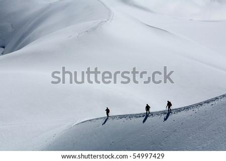 Alpinists - stock photo