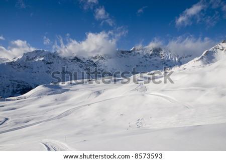 Alps panorama - stock photo