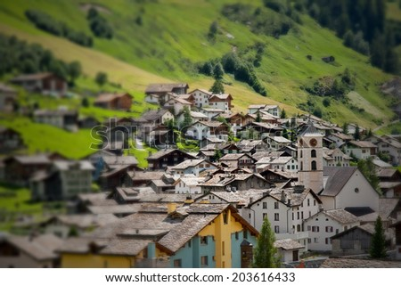 Alps Village - stock photo