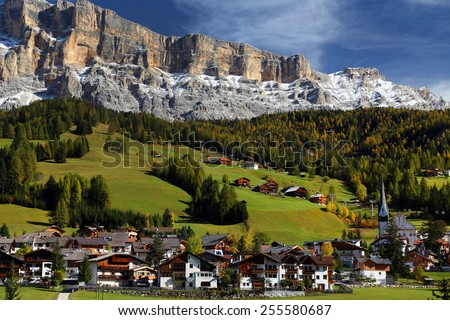 Alta Badia in the Dolomites, Italy, Europe - stock photo