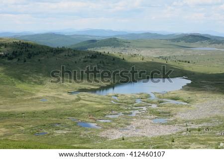 Altai region Russia mountain landscapes - stock photo