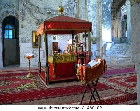 Altar in New Jerusalem monastery - Russia - stock photo