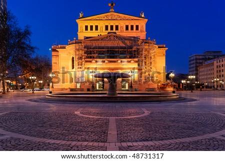 Alte Oper, Frankfurt. Old opera house. - stock photo