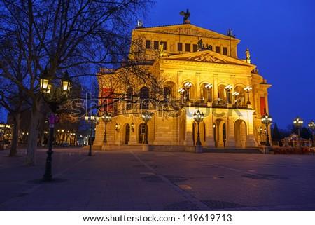 Alte Oper in Frankfurt, Germany - stock photo