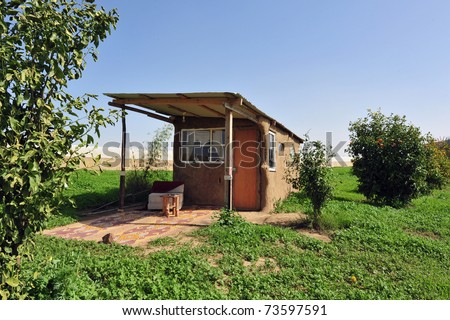 Alternative bed and breakfast room to rent for holiday vacation in Israel. - stock photo