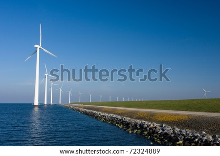 Alternative energy take over nuclear energy - stock photo