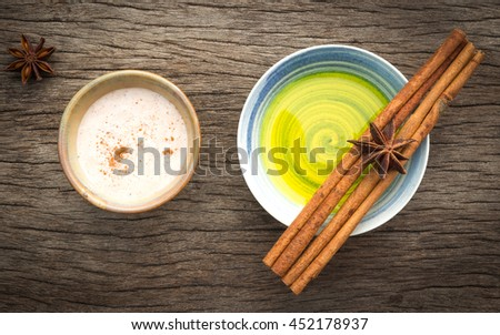 Alternative health care fresh herbal and a bowl medical of aromatherapy. - stock photo
