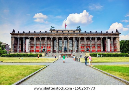 Altes Museum. German Old Museum on Museum Island, Mitte. Berlin, Germany - stock photo