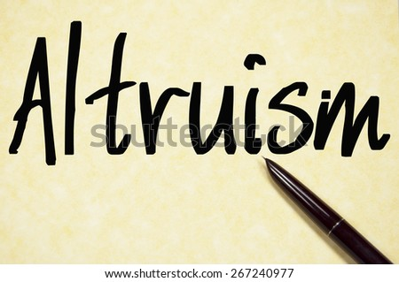 altruism research paper Altruism and nursing a 7 page paper discussing the need for altruism in the nursing profession five separate examples of altruism are compared and contrasted.