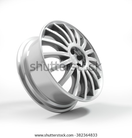Aluminium Alloy rim, Car rim.  - stock photo