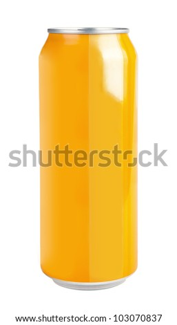 aluminium can isolated on white - stock photo