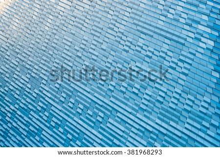 Aluminium cladding - stock photo