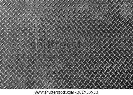 Aluminium dark list with rhombus shapes - stock photo