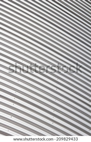 Aluminium metal profile of the wall - stock photo