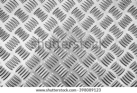 Aluminium metal silver texture background - stock photo